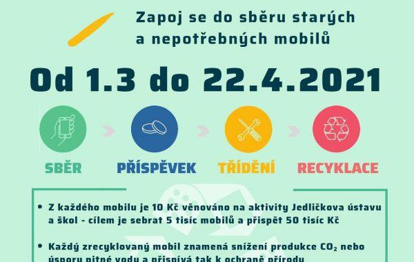 Sběr nepotřebných mobilních telefonů pro dobrou věc